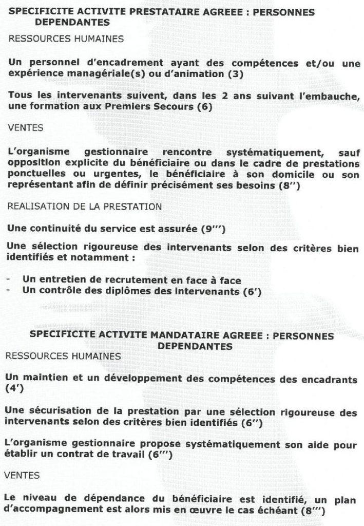 Spécificités des services certifiés d'Assidom