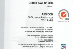 Certification de service Qualicert SGS
